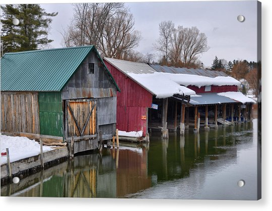 Crooked River Boat House Acrylic Print