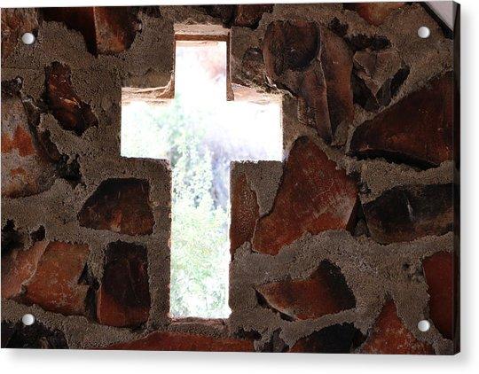Cross Shaped Window In Chapel  Acrylic Print