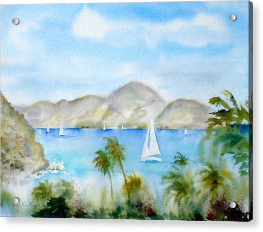 Cruising In The Caribbean Acrylic Print