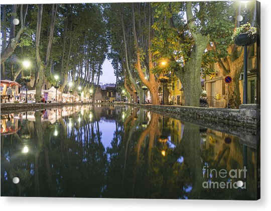 Acrylic Print featuring the photograph Cucuron Village Provence  by Juergen Held