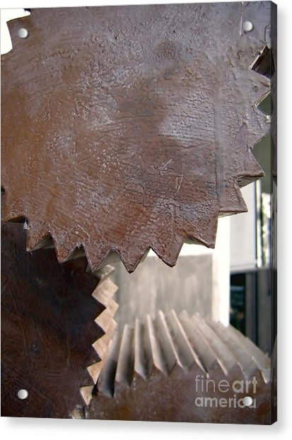 Cylindrical Gears Acrylic Print
