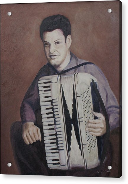 Daddy And His Accordion Acrylic Print