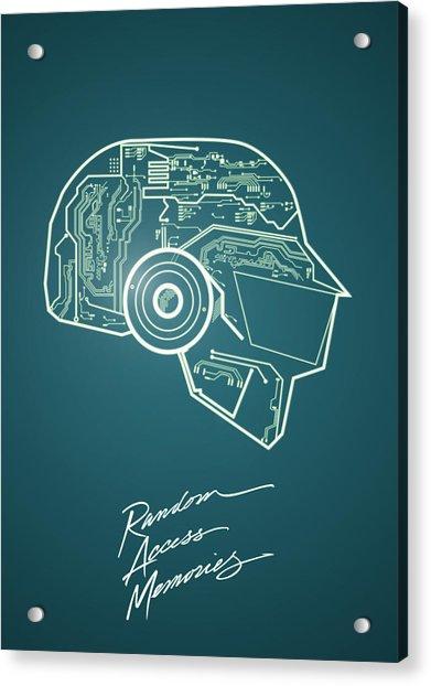 Daft Punk Thomas Poster Random Access Memories Digital Illustration Print Acrylic Print