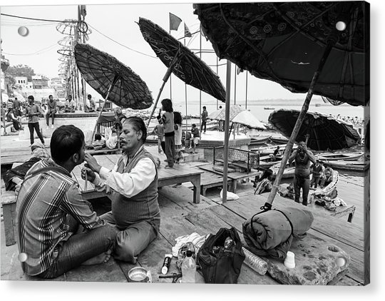 Daily Life In Varanasi Acrylic Print