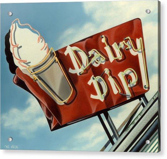Dairy Dip Acrylic Print