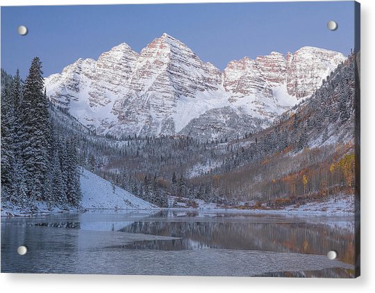 Acrylic Print featuring the photograph Dawn At Maroon Bells 2 by Jemmy Archer