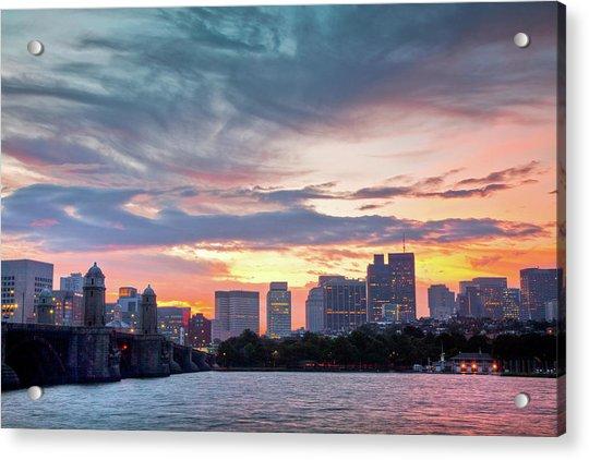 Dawn On The Charles River Acrylic Print