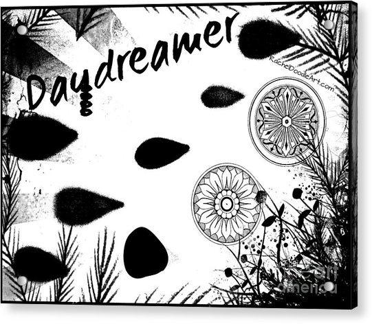 Acrylic Print featuring the drawing Daydreamer by Rachel Maynard