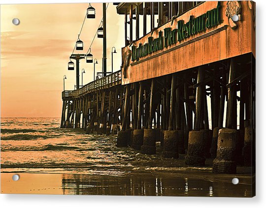 Acrylic Print featuring the photograph Daytona Beach Pier by Carolyn Marshall