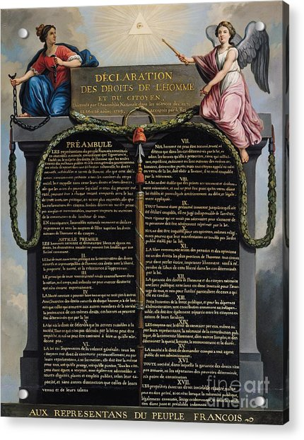 Declaration Of The Rights Of Man And Citizen Acrylic Print