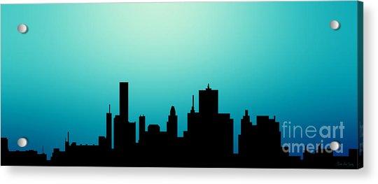 Decorative Abstract Skyline Houston R1115a Acrylic Print