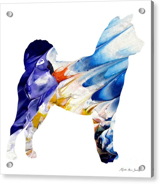 Decorative Husky Abstract O1015c Acrylic Print