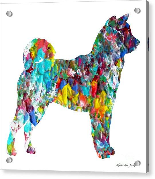 Decorative Husky Abstract O1015h Acrylic Print