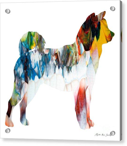Decorative Husky Abstract O1015l Acrylic Print