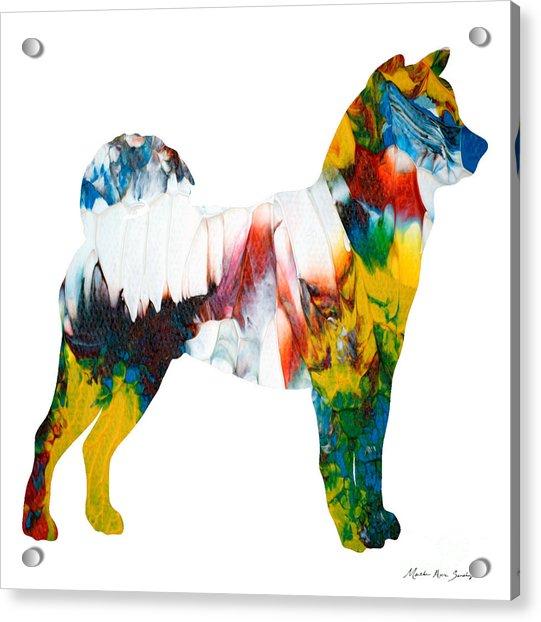 Decorative Husky Abstract O1015m Acrylic Print