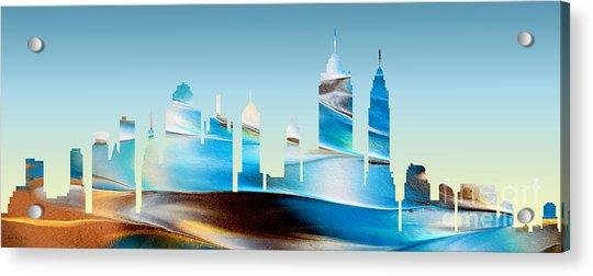 Decorative Skyline Abstract New York P1015b Acrylic Print