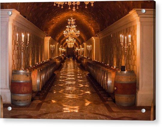 Del Dotto Wine Cellar Acrylic Print