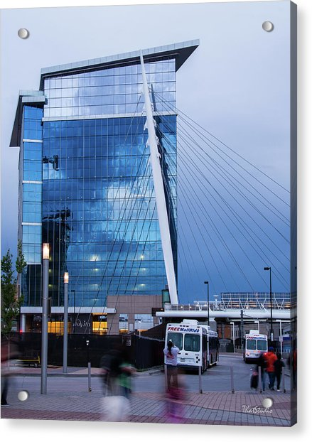Denver Union Station And Milennium Bridge Acrylic Print