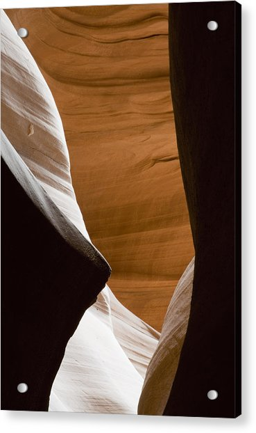 Desert Sandstone Abstract Acrylic Print