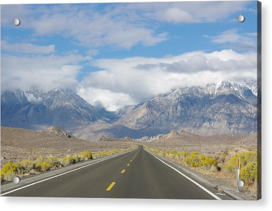 Deserted Road To Mt. Whitney Acrylic Print