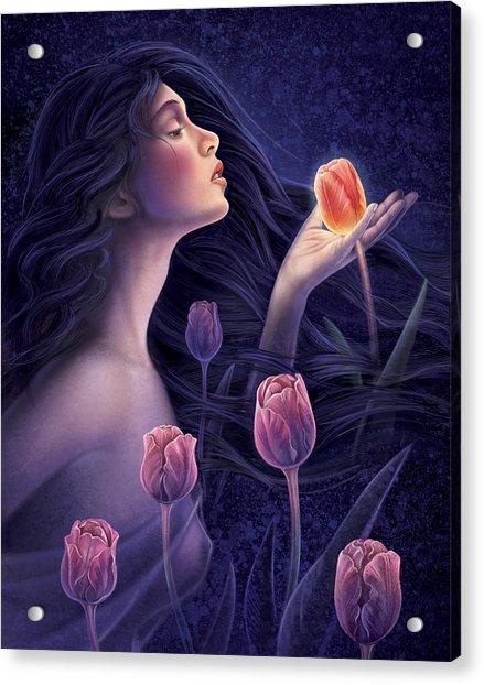 Devotee To Beauty Acrylic Print