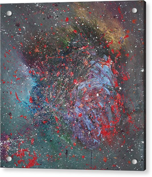 Acrylic Print featuring the painting Discovery by Michael Lucarelli