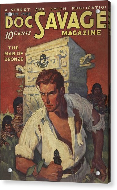 Doc Savage The Man Of Bronze Acrylic Print