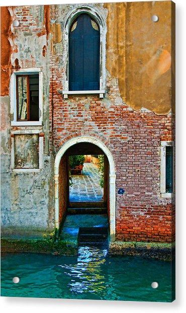 Dock And Windows Acrylic Print