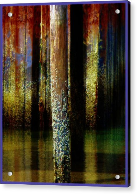 Dock At Low Tide Acrylic Print
