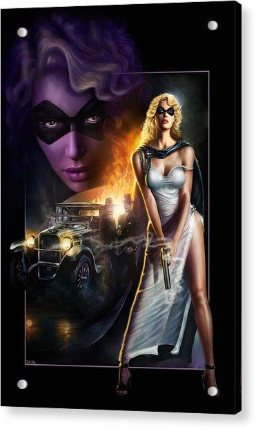 Domino Lady Acrylic Print