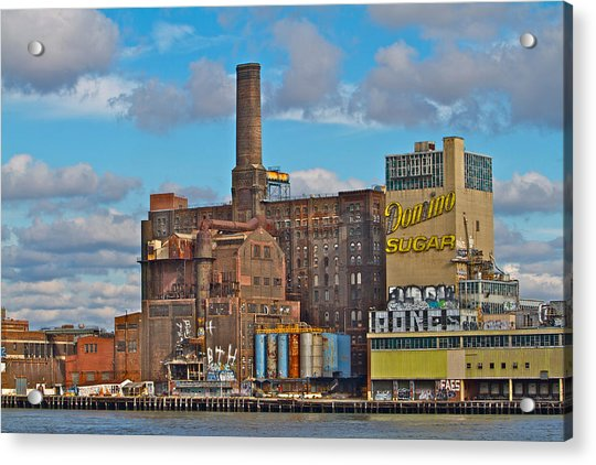 Acrylic Print featuring the photograph Domino Sugar Water View by Alice Gipson