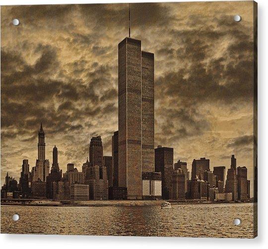 Acrylic Print featuring the photograph Downtown Manhattan Circa Nineteen Seventy Nine  by Chris Lord