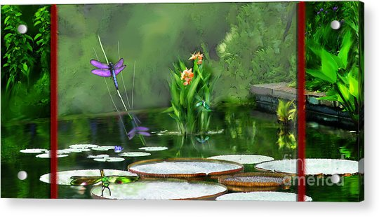 Dragons On The Pond Acrylic Print