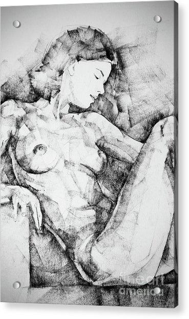Drawing Beautiful Girl Figure Acrylic Print