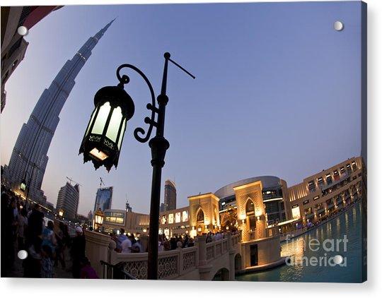 Acrylic Print featuring the photograph Dubai Burj Khalifa by Juergen Held