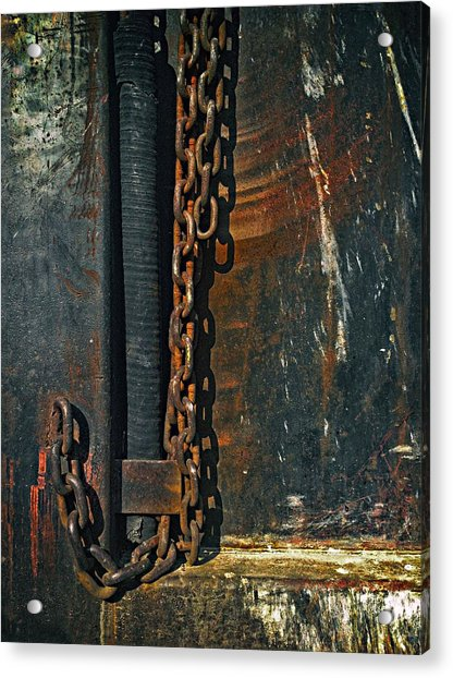 Dump Truck Chain Acrylic Print by Andrew Wohl