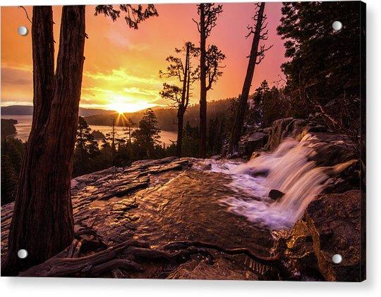 Eagle Falls Sunrise Acrylic Print