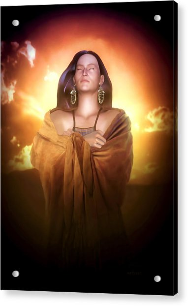 Acrylic Print featuring the digital art Earth Mother by Valerie Anne Kelly