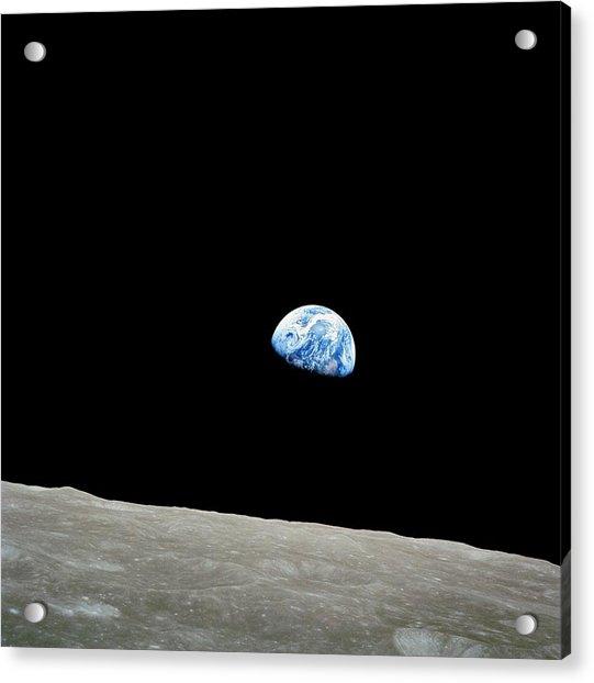 Earthrise Over Moon, Apollo 8 Acrylic Print