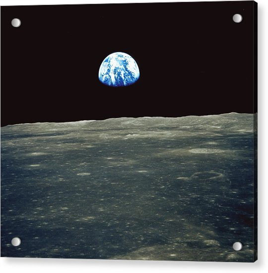 Earthrise Photographed From Apollo 11 Spacecraft Acrylic Print