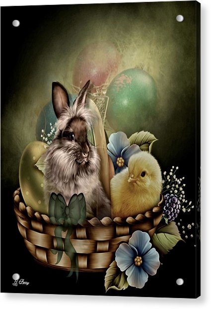 Easter Basket Acrylic Print
