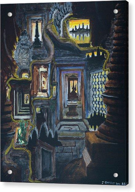 Echoes Of Angkor Wat Acrylic Print