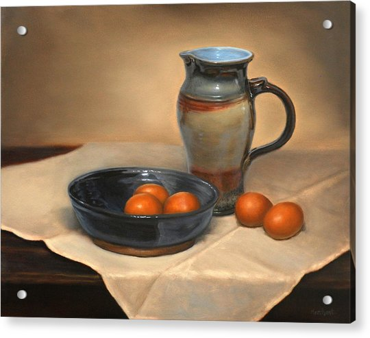 Eggs And Pitcher Acrylic Print