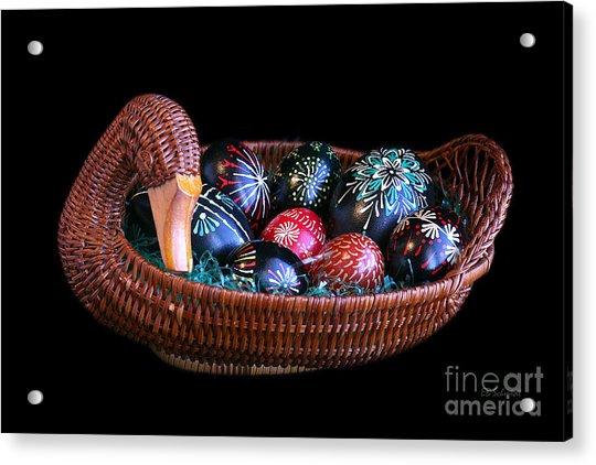 Eggs In A Goose Basket Acrylic Print