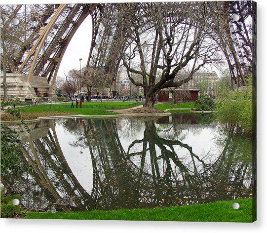 Eiffel Base Reflection Acrylic Print