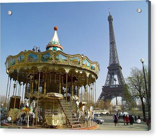 Eiffel Carousel Acrylic Print