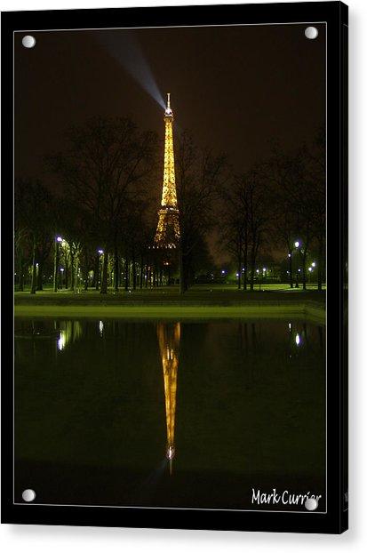 Eiffel Reflection Acrylic Print