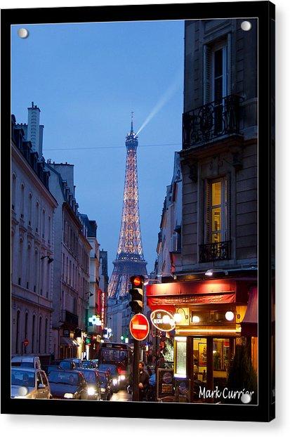 Eiffel Suburb At Dusk Acrylic Print