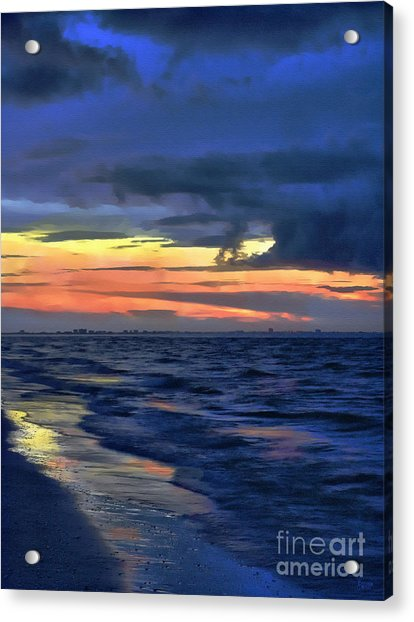 Electric Blue Acrylic Print