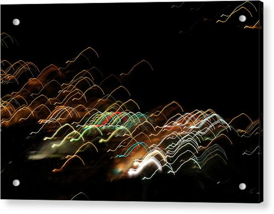 Acrylic Print featuring the pyrography Electronic Landscape by Michael Lucarelli